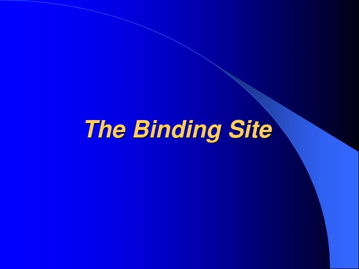 The Binding Site