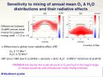 sensitivity to mixing of annual mean o 3 h 2 o distributions and their radiative effects