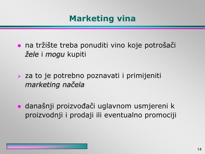 Marketing vina