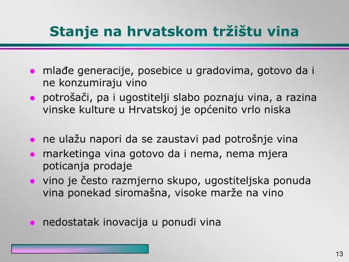 Stanje na hrvatskom tržištu vina