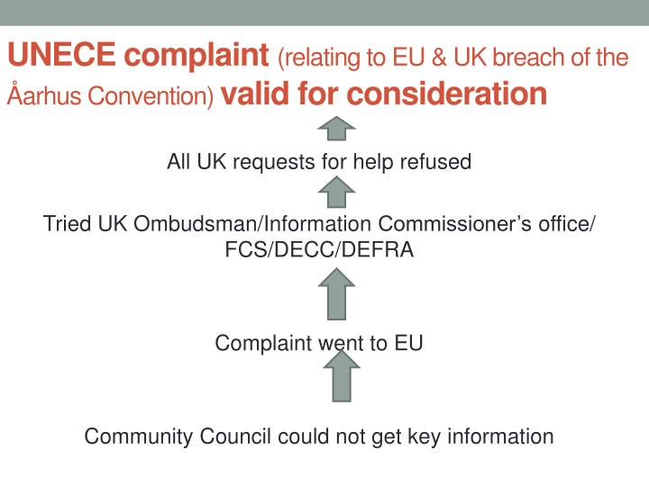 Unece complaint relating to eu uk breach of the arhus convention valid for consideration