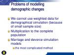 problems of modelling demographic changes1