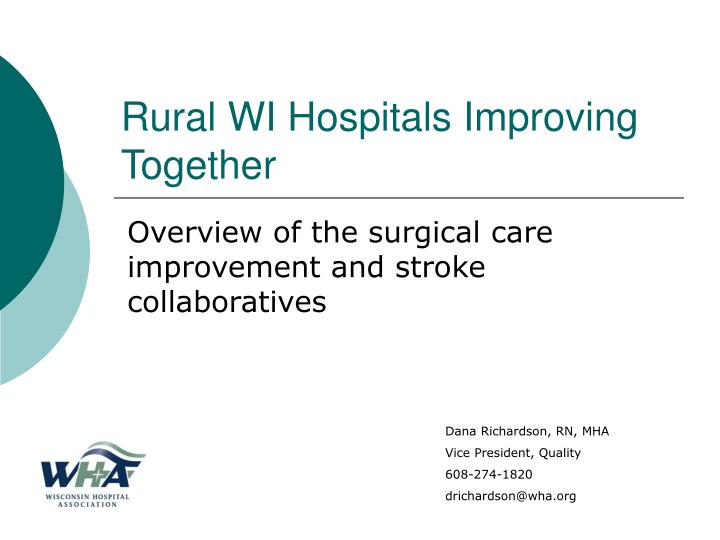 rural wi hospitals improving together
