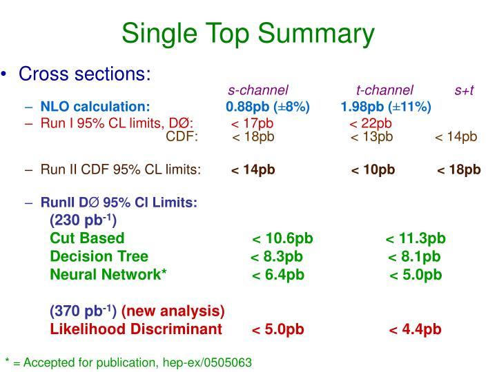 Single Top Summary