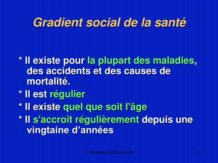 Gradient social de la santé