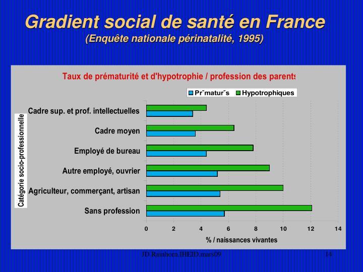 Gradient social de santé en France