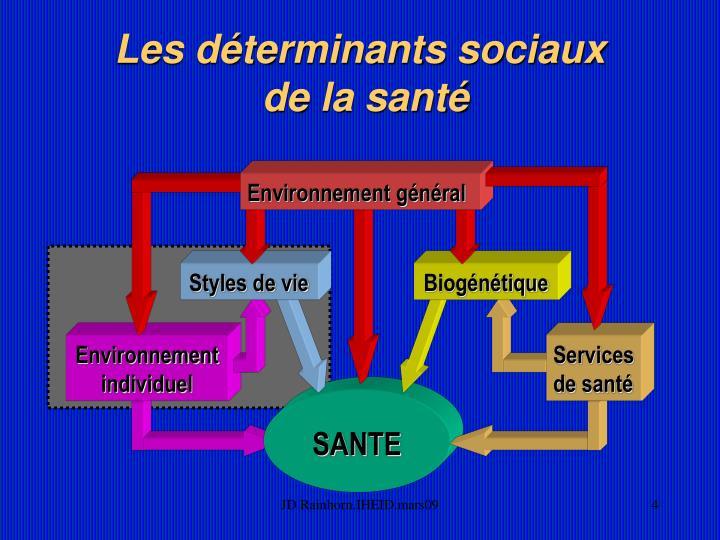 Les déterminants sociaux