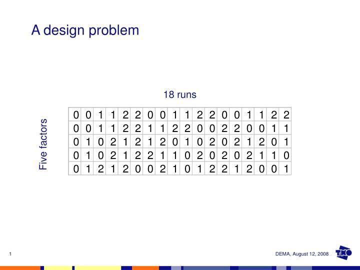 a design problem n.