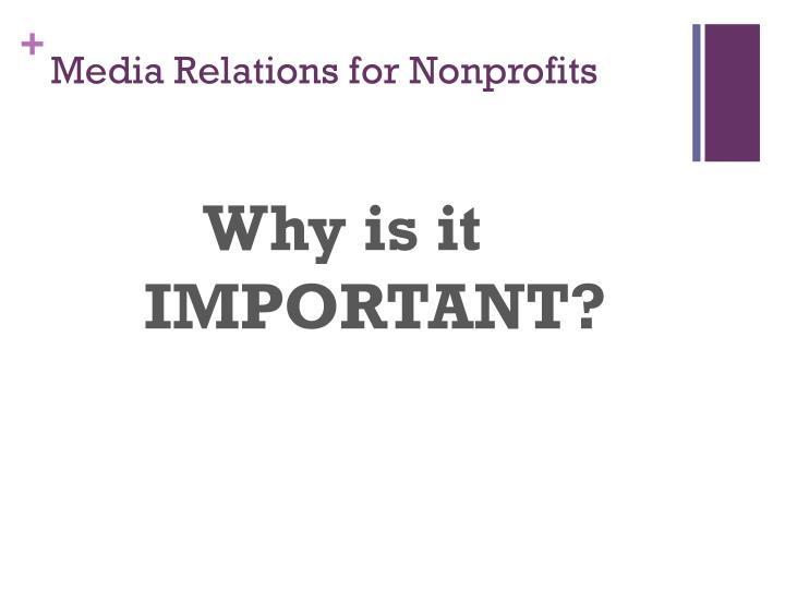 Media Relations for Nonprofits
