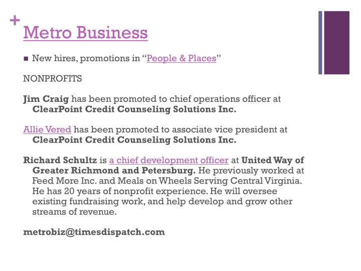 Metro Business