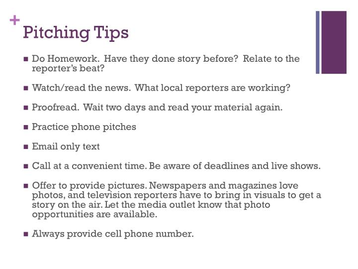 Pitching Tips