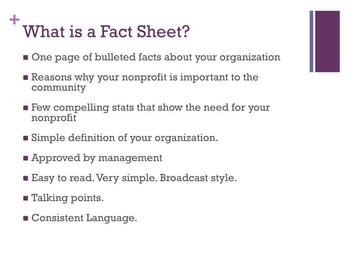 What is a Fact Sheet?
