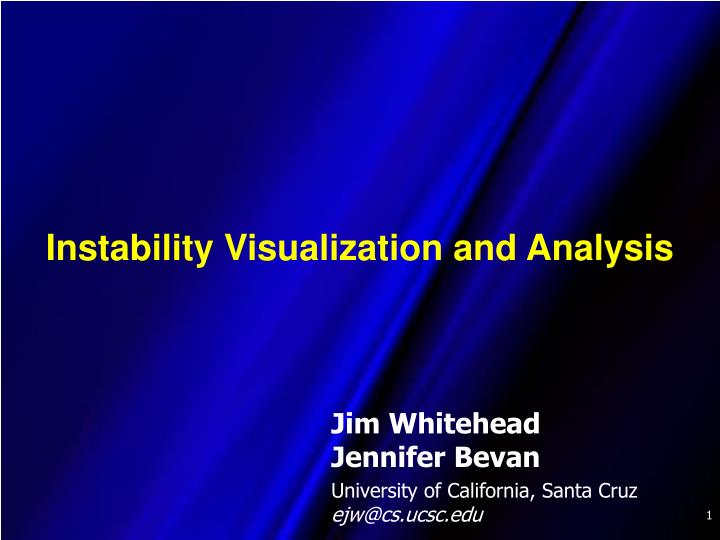 instability visualization and analysis n.