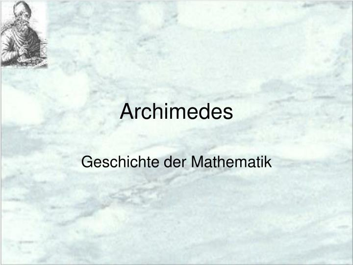 archimedes n.