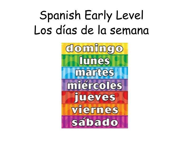 spanish early level n.