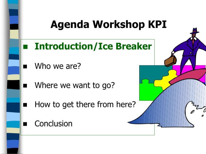 Agenda workshop kpi