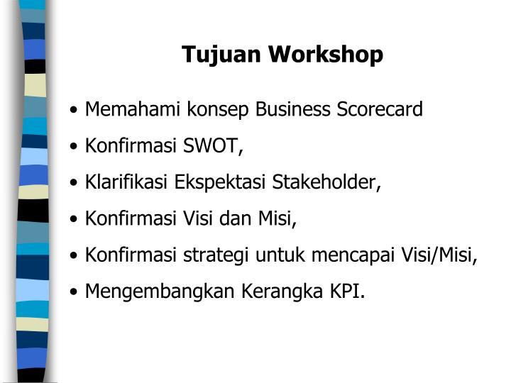 Tujuan Workshop