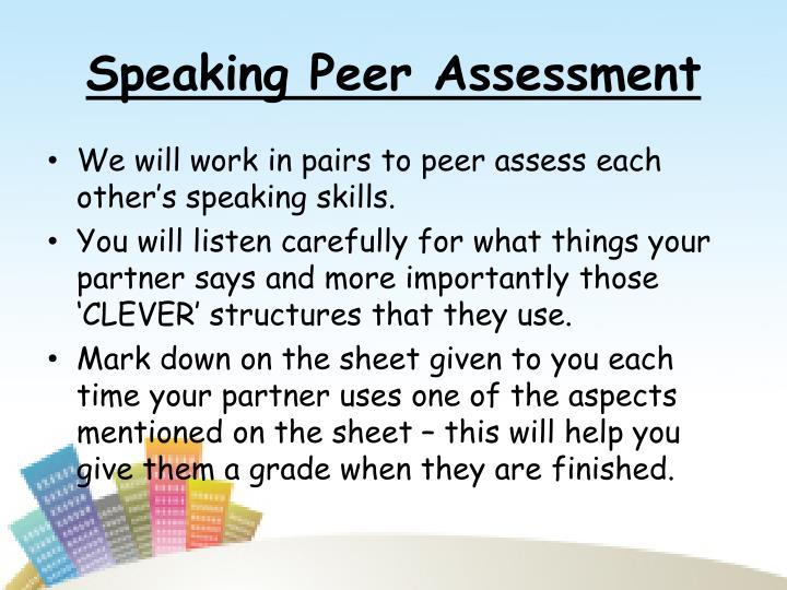 Speaking Peer Assessment