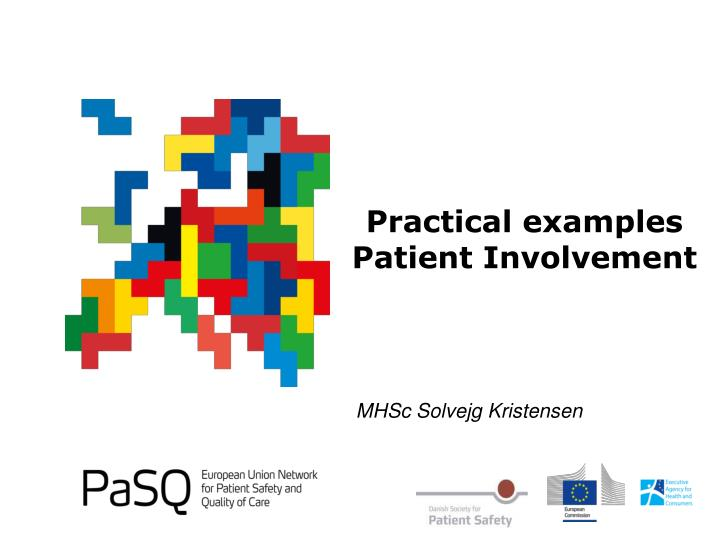 practical examples patient involvement n.