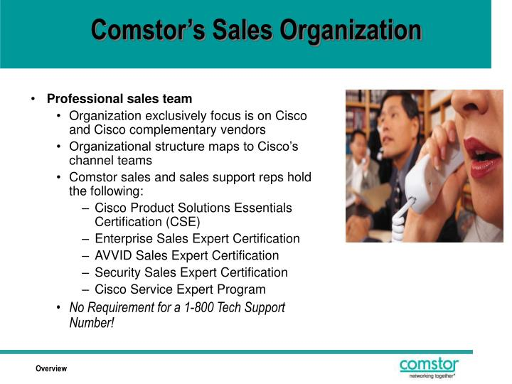 Comstor's Sales Organization