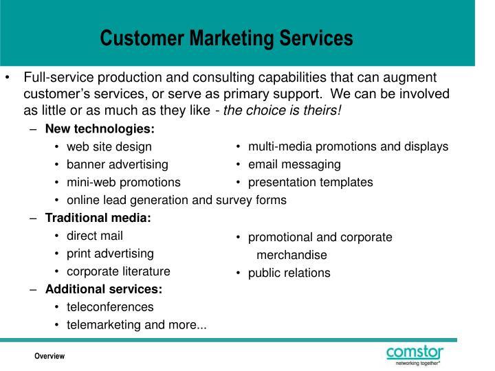 Customer Marketing Services