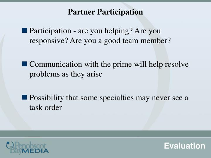 Partner Participation