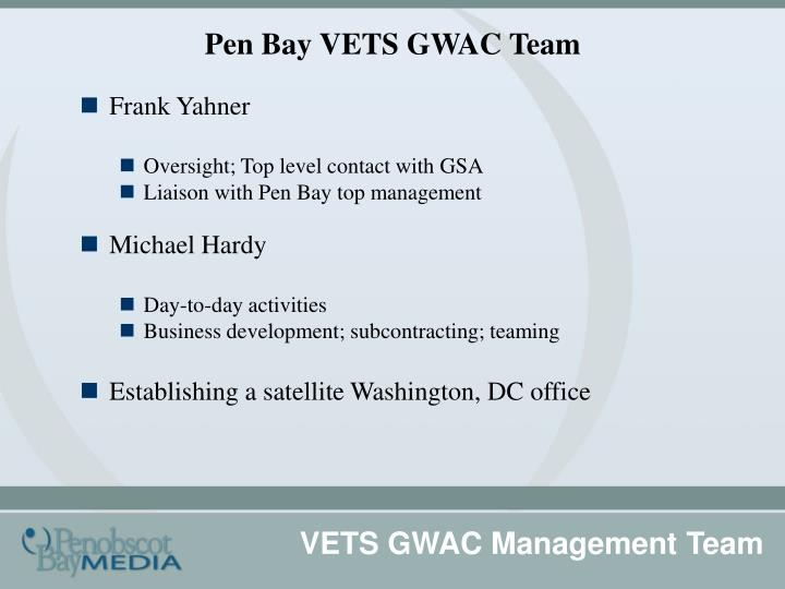 Pen bay vets gwac team