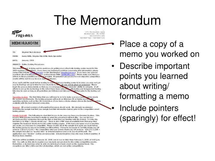 The memorandum