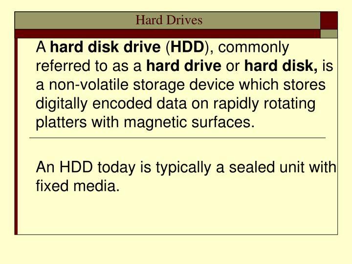 hard drives n.