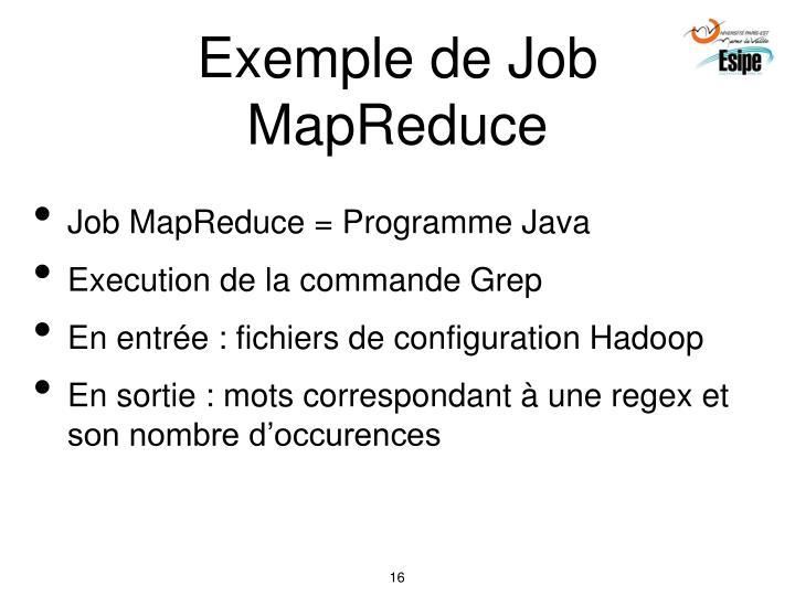 Exemple de Job MapReduce