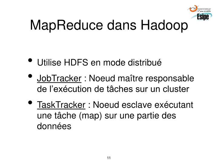 MapReduce dans Hadoop