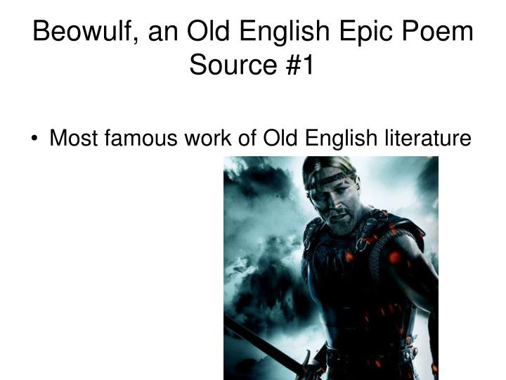 Beowulf, an Old English Epic Poem Source #1