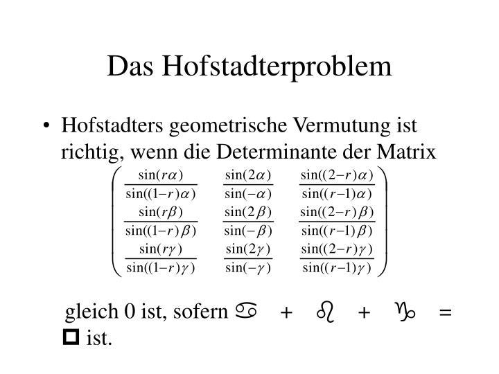 Das Hofstadterproblem