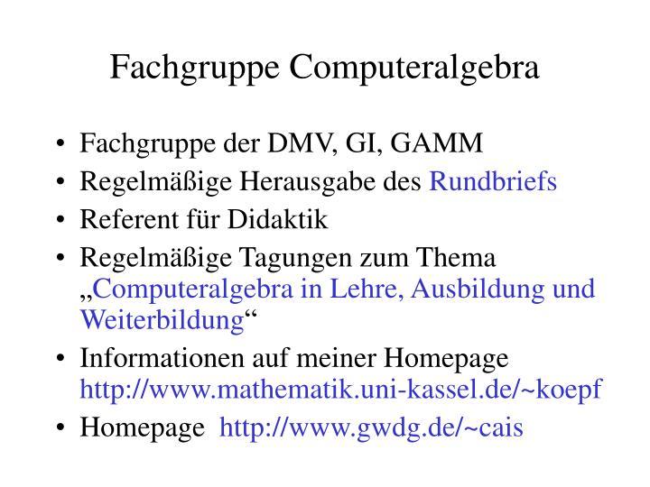 Fachgruppe computeralgebra