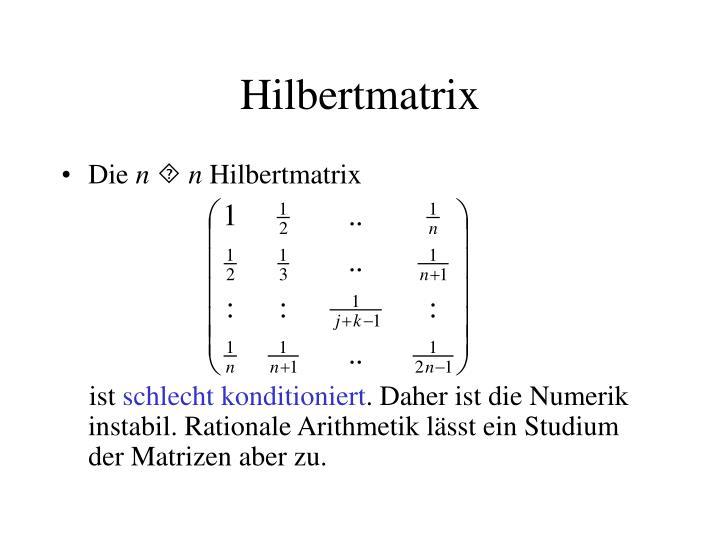 Hilbertmatrix