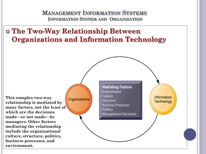 discuss management structure in relation to management information system
