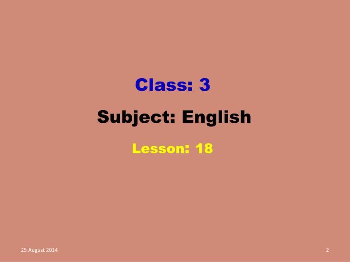 Class: 3