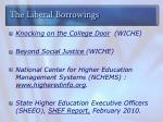 the liberal borrowings