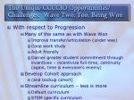 the unique ccccio opportunities challenges wave two too being won2