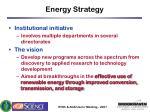energy strategy