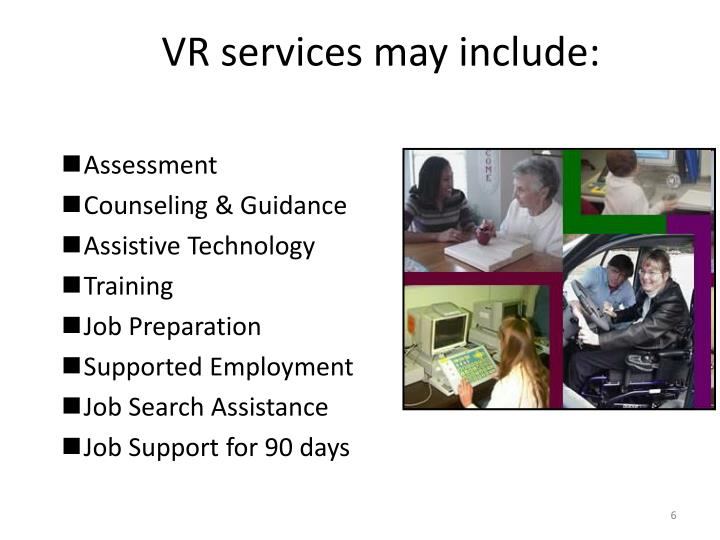 VR services may include: