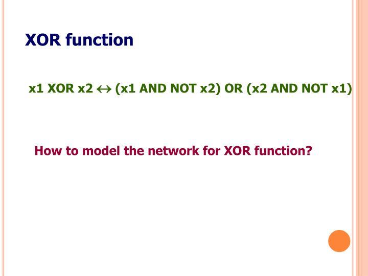 XOR function