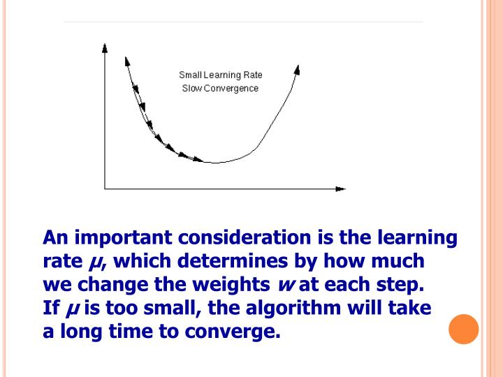 An important consideration is the learning