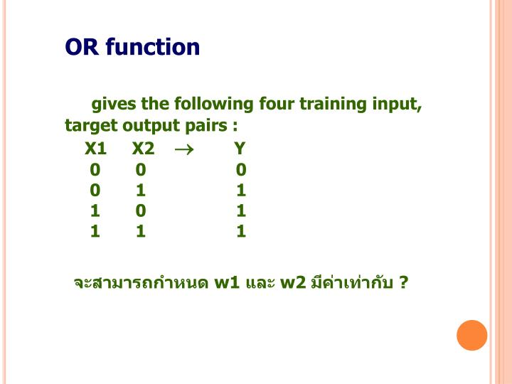 OR function