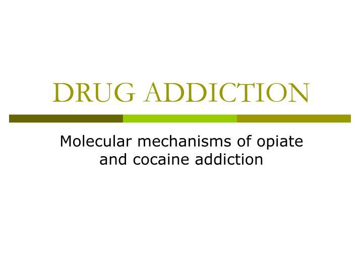 drug addiction n.