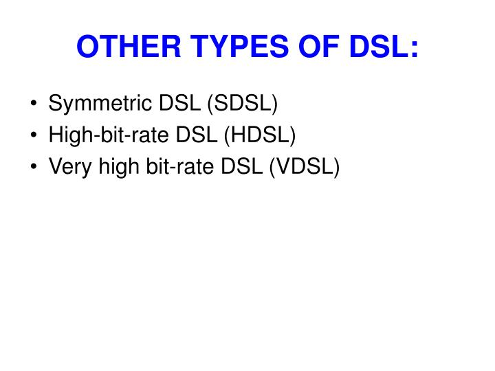 OTHER TYPES OF DSL: