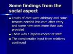 some findings from the social aspect1