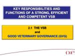 key responsibilities and functions of a strong efficient and competent vsb