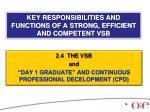 key responsibilities and functions of a strong efficient and competent vsb13