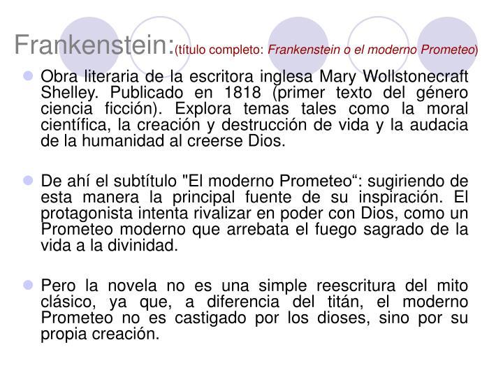 Frankenstein: